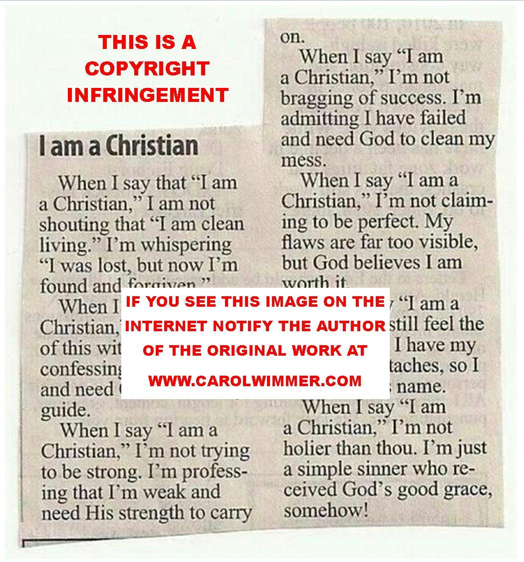 Permissions When I Say I Am A Christian