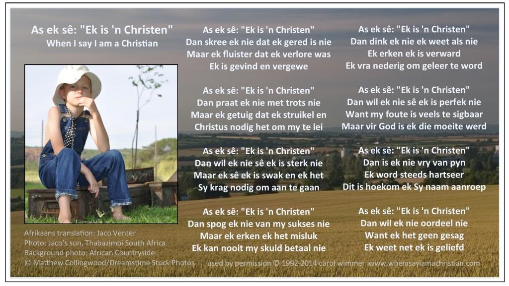 Poem in Afrikaans