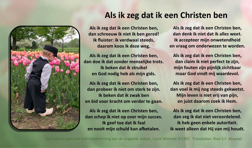 Poem in Dutch