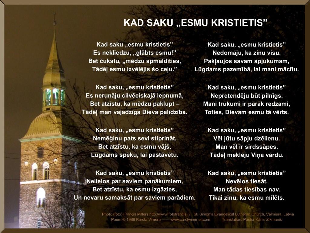 Poem in Latvian